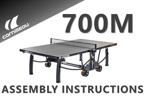 Cornilleau Performance 700M Crossover Outdoor Table Tennis Table - Assembly Video