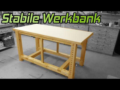 #1 So baust du eine stabile Werkbank für die Werkstatt  | Lets Bastel