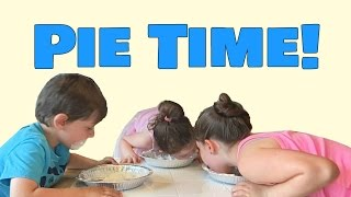FUNNY KIDS VIDEO: Pie Eating Challenge!