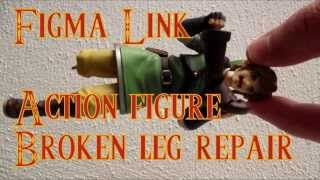 Repairing a broken knee on an action figure (Figma Link)