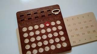 Вечный деревянный календарь настенный большой от компании Itowndecor - видео