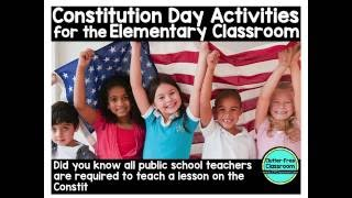 Constitution Day Activities For Elementary School