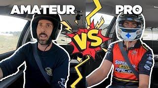 Amateur vs Pro Racing Driver // TRACK BATTLE