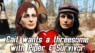 Fallout 4 - Cait wants a threesome with Piper & Sole Survivor