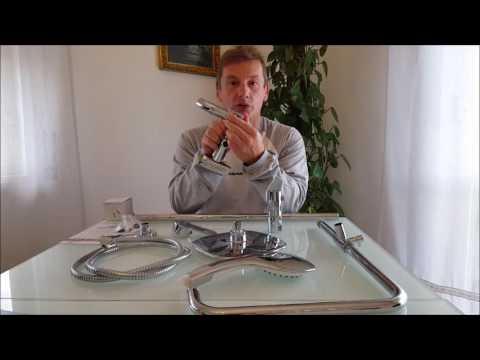 Doccia a parete con Soffione e Miscelatore ARUHE® Classic design
