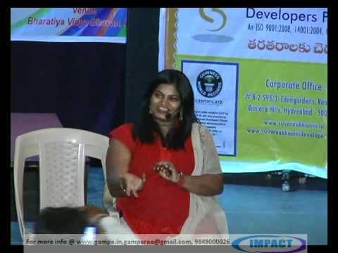 Positive Thinking|Jessy Naidu|TELUGU IMPACT Hyd 2012
