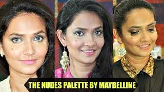 Image for video on 3 Easy Makeup Looks with The Maybelline THE NUDES PATLETTE | 4 Steps Smokey Eye by Bakeup & Makeup