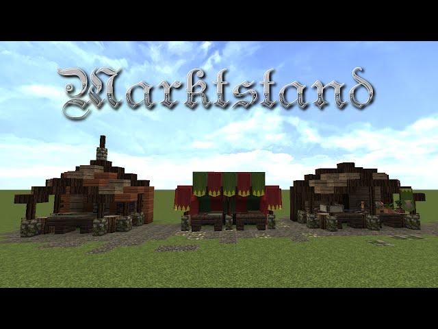 Video Minecraft Tutorial Marktstand Bauen Build A Market Stall
