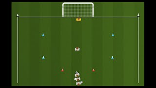 Tactical Soccer - Finishing Drills - Hot Zone Shooting