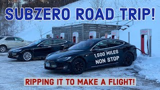 Buying the Cheapest Model S 100D then Blasting Across the Country (Very Cold!)