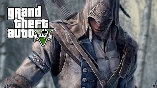 GTA 5 Mods   Connor Kenway + Tomahawk Weapon (Assassin's Creed 3)