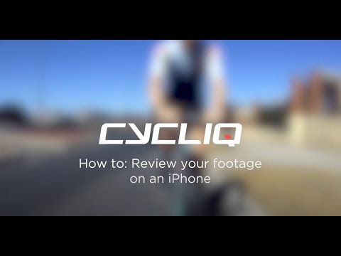 How to review Cycliq footage on an iPhone