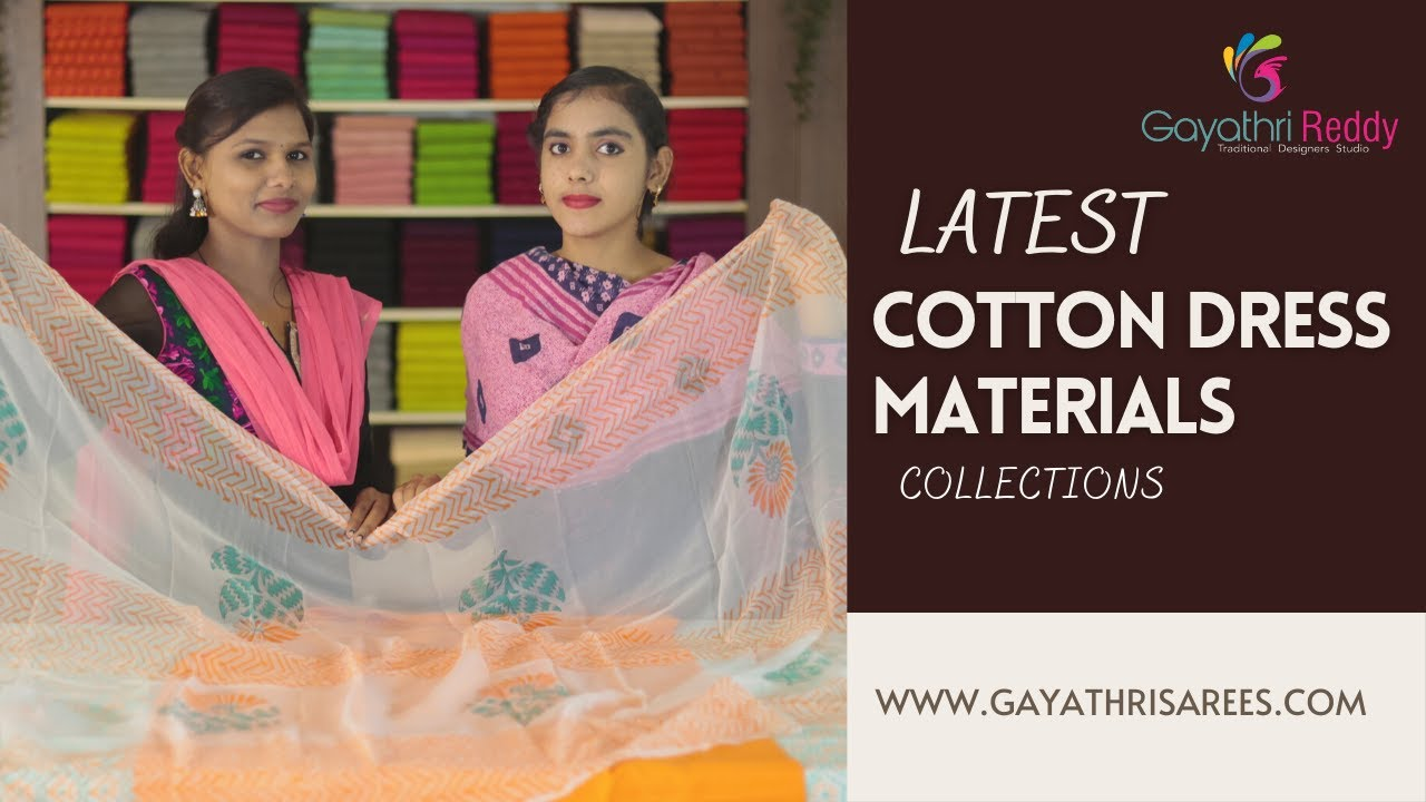 """<p style=""""color: red"""">Video : </p>New Latest Cotton Dress Materials &amp; Collections    Gayathri Reddy    2021-08-03"""
