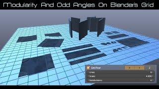 Modularity&Odd Angles on Blender's Grid