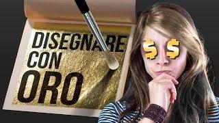 DISEGNARE con L'ORO (versione povera) - Foglia Oro 🐸 Fraffrog