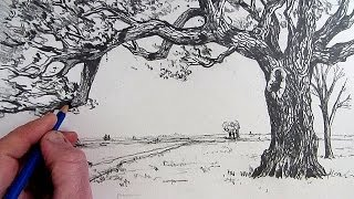 Bagaimana Menggambar Pohon: Diceritakan Langkah Demi Langkah