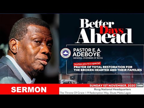RCCG Sunday Service 1st November 2020 by Pastor E. A. Adeboye - Livestream
