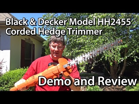 Black & Decker HH2455 Corded Hedge Trimmer Review