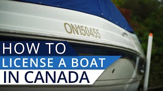 How Do You License a Boat in Canada