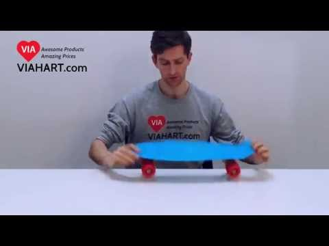 VIAHART 22 Inch Portable Plastic Skateboard | Product Info Video