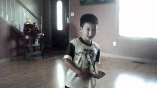 "7 year old singing and dancing to ""We're Not Gonna Take It"" by Twisted Sister"