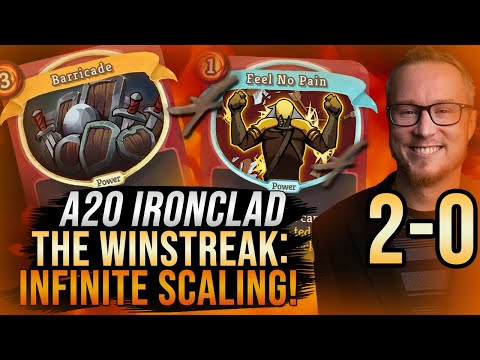 The Win Streak: 2-0! Infinite Scaling! | A20 Ironclad Run | Slay the Spire
