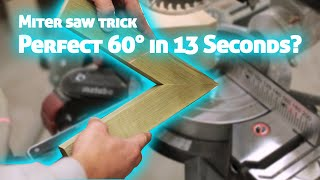 How to Cut ANY Angle on Your Miter Saw in 13 Seconds. Woodworking trick.