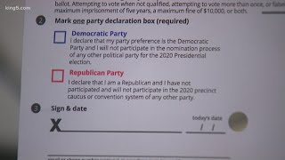 Decision 2020: party affiliation on Washington primary ballots