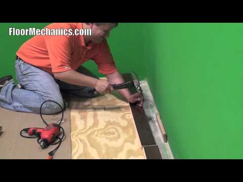 How to rack a floor for installation.
