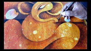 Abstract Painting / Abstract GANESHA / Acrylics / Demonstration