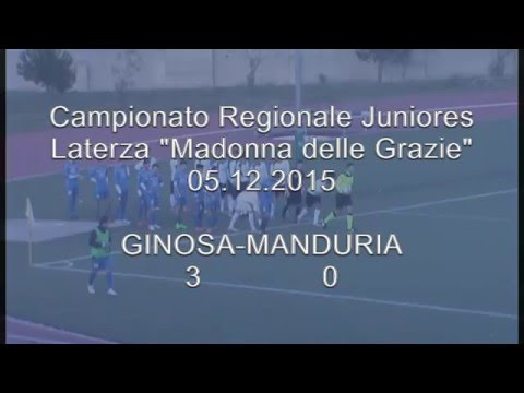 Preview video Juniores: GINOSA-MANDURIA 3-0 Il Ginosa affonda anche il Manduria e svetta in testa alla classifica
