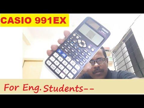 Best Engineering Calculator, CASIO 991EX, QR Code Option, Online Registration for warranty