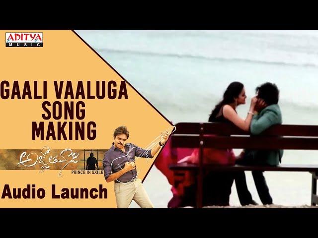 Gaali Vaaluga Video Song Making | Agnyaathavaasi Movie Songs | Pawan Kalyan | Trivikram