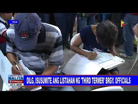 DILG, isusumite ang listahan ng 'third termer' brgy. officials