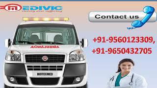Hire Low Fare Road Ambulance Service in Kanke and Jawahar Nagar