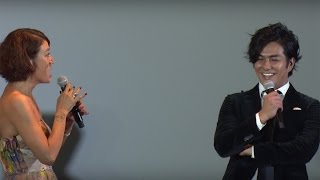 LiLiCo、北村一輝との壁ドンシーンに「心の中でガッツポーズ」映画「猫侍南の島へ行く」初日舞台あいさつ1#NekoZamurai#event