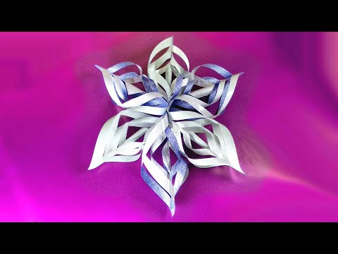 How to make 3D Paper Snowflakes - Easy Christmas decor