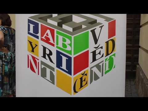 Labyrintu věd(ění) - předávání certifikátů. 6.6.2018, Národní knihovna, Karolinum, Zrcadlová kaple.