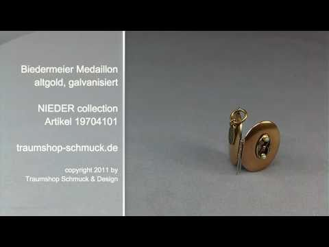 Medaillon zum öffnen Biedermeier in gold 19704101
