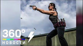 Дочерей Кадырова учит стрелять «Лара Крофт» из Казахстана