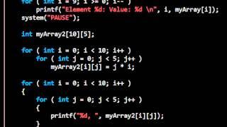 Download Youtube: C Arrays: Computer Programming 5: 24HourAnswers Tutorials