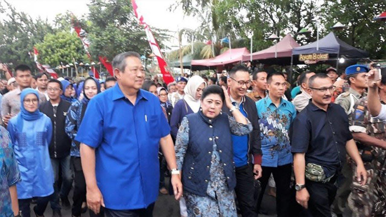 SBY Blusukan ke Kampung Bekelir Tangerang, Warga Antusias Sambut Kedatangannya Bersama Ibu Ani