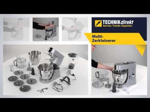 Kenwood KMM060 Major Titanium Küchenmaschine mit Multi-Zerkleinerer & Edelstahl-Schüssel
