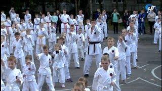На базе 25-й школы прошла общая тренировка новгородских каратистов