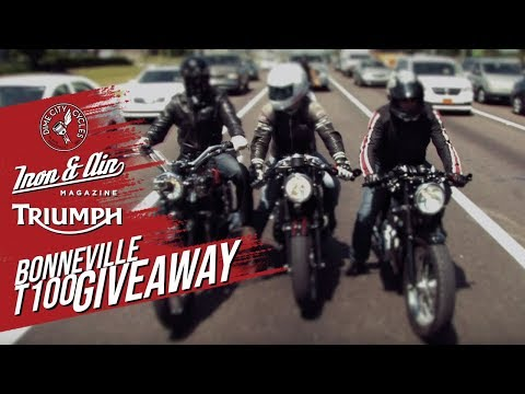 The Dime City, Iron & Air & Triumph Motorcycles Bonneville T100 Giveaway!