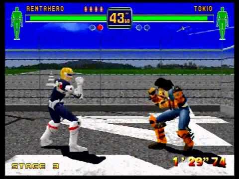 Fighters Megamix (Sega Saturn) 1P Mode as RentAHero