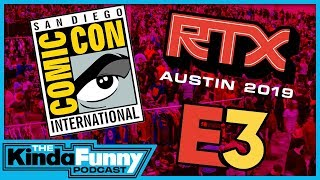The Best And Worst Things About Conventions - Kinda Funny Podcast (Ep. 23)