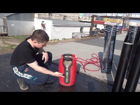 Кровля гаража  Как самому правильно покрыть крышу гаража? Наплавляемая гидроизоляция своими руками