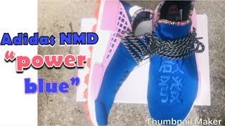 Adidas NMD  Human Racer Power Blue Inspiration Pack +on Foot