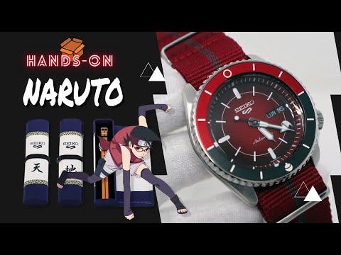SEIKO 5 SPORTS NARUTO & BORUTO SARADA UCHIHA LIMITED EDITION SRPF67K1